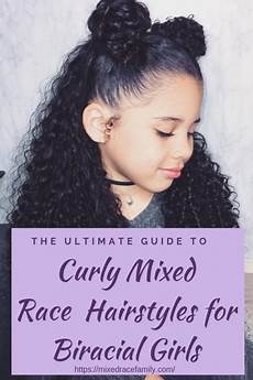 simple curly mixed race hairstyles for biracial mixed up