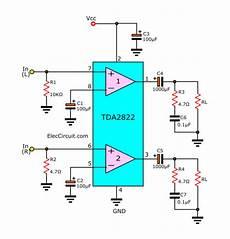 Tda2822 Stereo Lifier Datasheet Eleccircuit