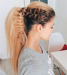 22 cute ponytails for medium length hair straight braided