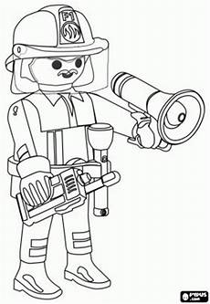 Ausmalbilder Feuerwehr Playmobil De Brandweercommandant De Stad Playmobil Met De