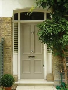 the london door company mushroom paint colour satin victorian front doors painted front