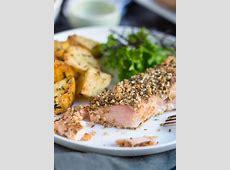easy baked caesar salmon_image