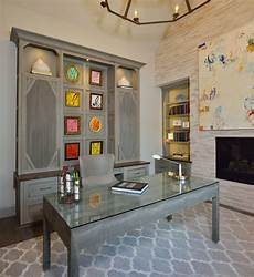 home office furniture houston pops of color in artwork on custom designed cabinets