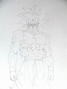 Dibujo De Goku Ultra Instinto Dominado Dragon Ball