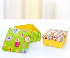 Kiste Selber Basteln - anleitung schachteln mit stoff beziehen buttinette