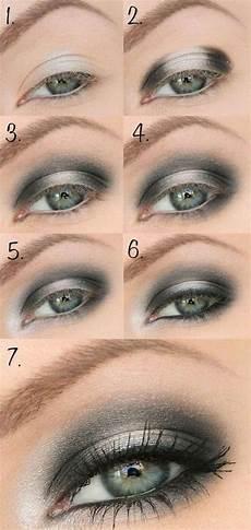 Sch 246 N Geschminkte Augen Abend Makeup Grau Silber