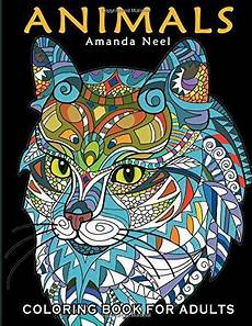 adult coloring book animal designs art patterns relaxing