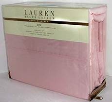 amazon com lauren by ralph lauren king sheet set dunham bedding 300 thead count sateen pink
