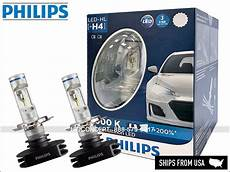 New Philips H4 Led X Treme Ultinon 12953bwx2 Hi Low Beam
