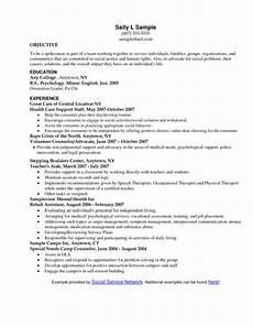 social workers resume sles