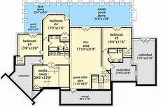 walkout basement ranch house plans mountain ranch with walkout basement craftsman house