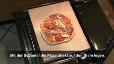 pizzastein im backofen