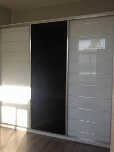 facade verres laqu 233 s blanc incis 233 argent et verre noir
