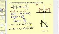 trigonometric equations formulas solving trigonometric equations using substitution for angles youtube