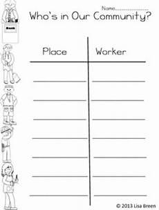 community helpers worksheet unit 2 communities