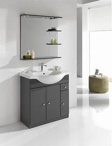meuble simple vasque l 80 x h 80 x p 33 4 cm gris galice