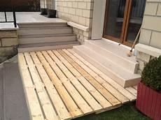terrasse en palettes terrasse en bois