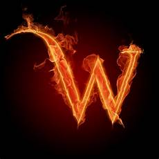 Huruf A Sai Z Dengan Elemen Api Wallpapersforfree