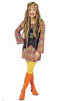 70er jahren mode damen hippie kleid hippie kost 252 m flower power 60er 70er jahre