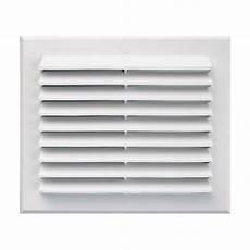 grille de ventilation vmc grille de ventilation rectangulaire en pvc blanc 224 clipser