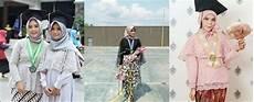 Model Jilbab Menutup Dada Untuk Wisuda Voal Motif