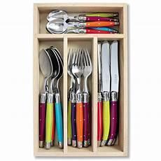 Laguiole Kitchen Knives Laguiole Multicoloured 24 Cutlery Set Unique Home