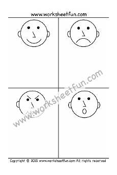 worksheet 1 emotions feelings happy sad mad and surprise free 4 other sheets