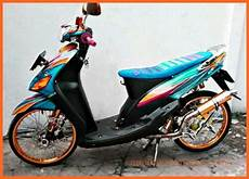 Modifikasi Mio Standar by Modifikasi Mio Sporty Standar Warna Biru Gold