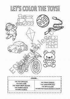 worksheets colors and toys 12707 color the toys esl worksheet by daniflores