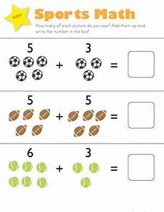 sports worksheets kindergarten 15816 single digit addition for kindergarten education