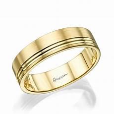 mens wedding band 14k yellow gold ring wedding ring matte