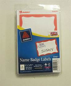 300 avery dennison border badges name tags id labels adhesive peel label 72782051433 ebay