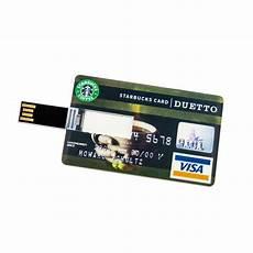 32 gb speicherkarte in scheckkartenform starbucks card usb