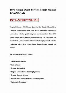 how to download repair manuals 1993 nissan quest seat position control 1996 nissan quest service repair manual download