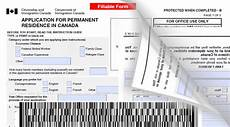 new canadian immigration forms barcodes incorporated into