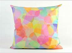 20 Soothing Geometric Pastel Modern Throw Pillows   Home