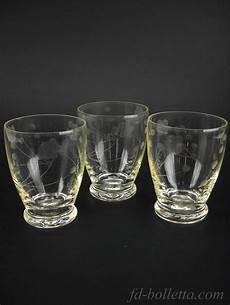 bicchieri antichi bicchieri antichi in vetro molato tre vecchi bicchieri da