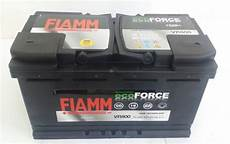 Batterie 80 Ah - batteria auto fiamm vr800 ecoforce agm start stop 80ah