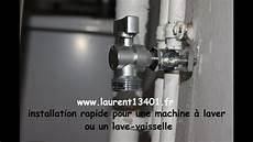 installation rapide d une prise d eau froide avec un