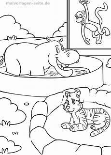 Zootiere Malvorlagen Pdf Malvorlage Tiere Im Zoo Malvorlagen Und Ausmalbilder F 252 R