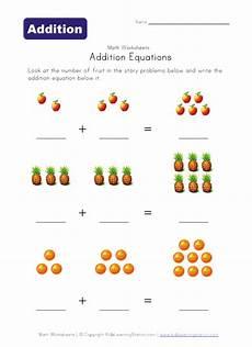 addition expressions worksheets 8847 fruit math equation apple 7 tessshebaylo