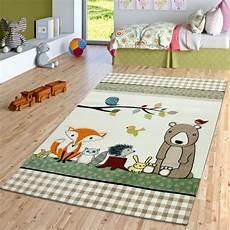Kinderlen Und Teppiche by Kinderzimmer Teppich Waldtiere Beige Gr 252 N Teppichmax