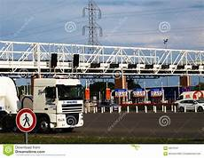 Highway Toll Gate On Editorial Photo Image 59570781