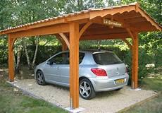 abri de voiture bois abri voiture de qualit 233 en bois et tuiles robert l 233 glise 33