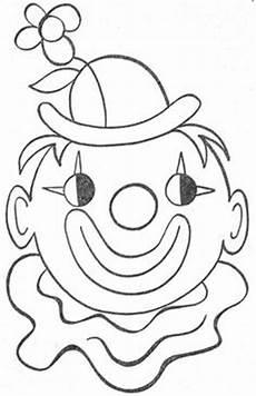 malvorlagen clown t clown karneval basteln ausmalbilder