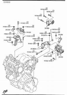 2004 mazda 6 engine diagram 2003 2004 2005 2006 2007 2008 mazda6 engine mount rear right oem new ebay
