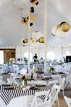 black white and gold rustic chic wedding