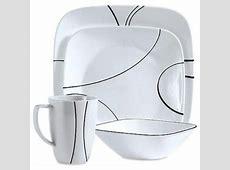 Corelle 16 Piece Simple Lines Square Dinnerware Set