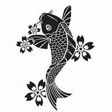 Dessin Poisson Japonais Poisson Japonais Koi Motifs Pochoirs Tatouage Pochoir