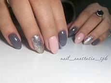 Grey Pink Silver Pink Gold Nails Silver Nails Grey